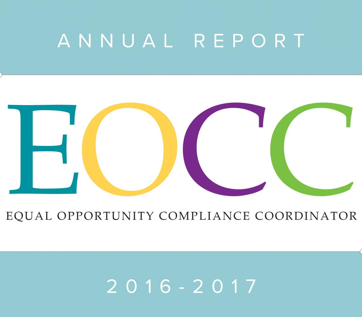 Equal Opportunity Compliance Coordinator (EOCC) Annual Report 2016-2017
