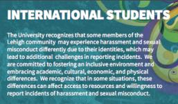 Bookmark Insert for International Students